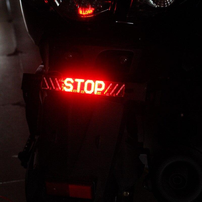 1pc LED Motorcycle Light Flash STOP Moto Indicator Lamp Brake Turn Signal Driving Taillight 12V Universal Warning Day Light