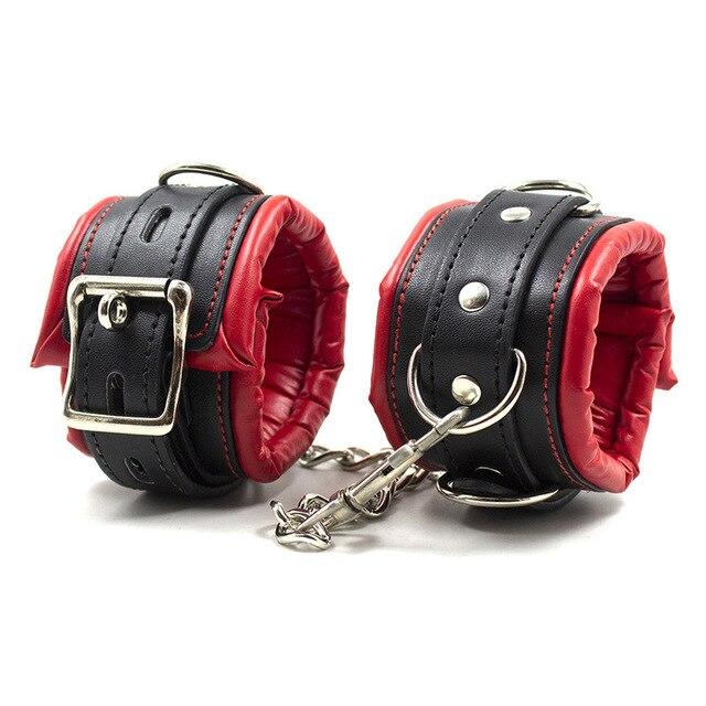 Sponge Handcuffs Lockable Shackles Erotic Wrist Ankle Cuffs Bdsm Bondage Restraints Adult Game Sex Toys For Couples Unisex