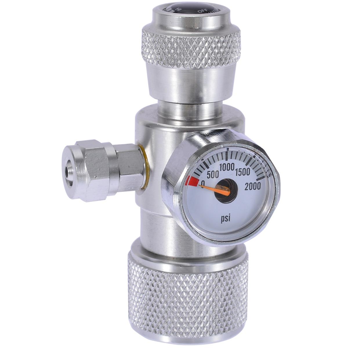 Liga de alumínio CO2 Musgo Aquário Planta Peixe Único Regulador Manômetro Medidor de Pressão Equipamentos Acessórios Do Aquário