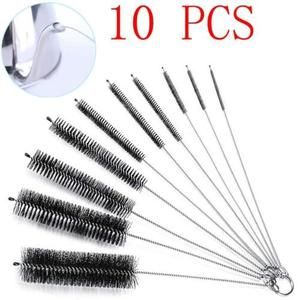 Image 1 - 10Pcs Portable High Quality Household Bottle Brushes Pipe Bong Cleaner Glass Tube Cleaning Brush Sets
