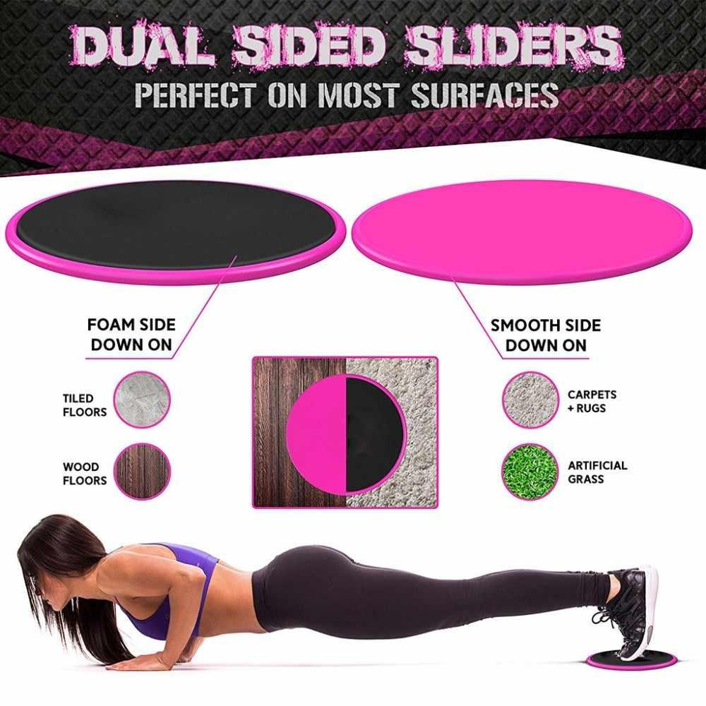 1 Set Inti Slider Gym Fitness Equipment Sisi Ganda Digunakan Pada Karpet Lantai Kayu Perut Latihan Latihan Aksesoris