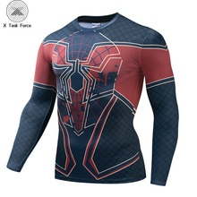 Spider-Man New Look Unisex 3D T-shirt Compression Shirts Men Compression Shirt Cosplay Costume Long Sleeve Tops For Male Fitness