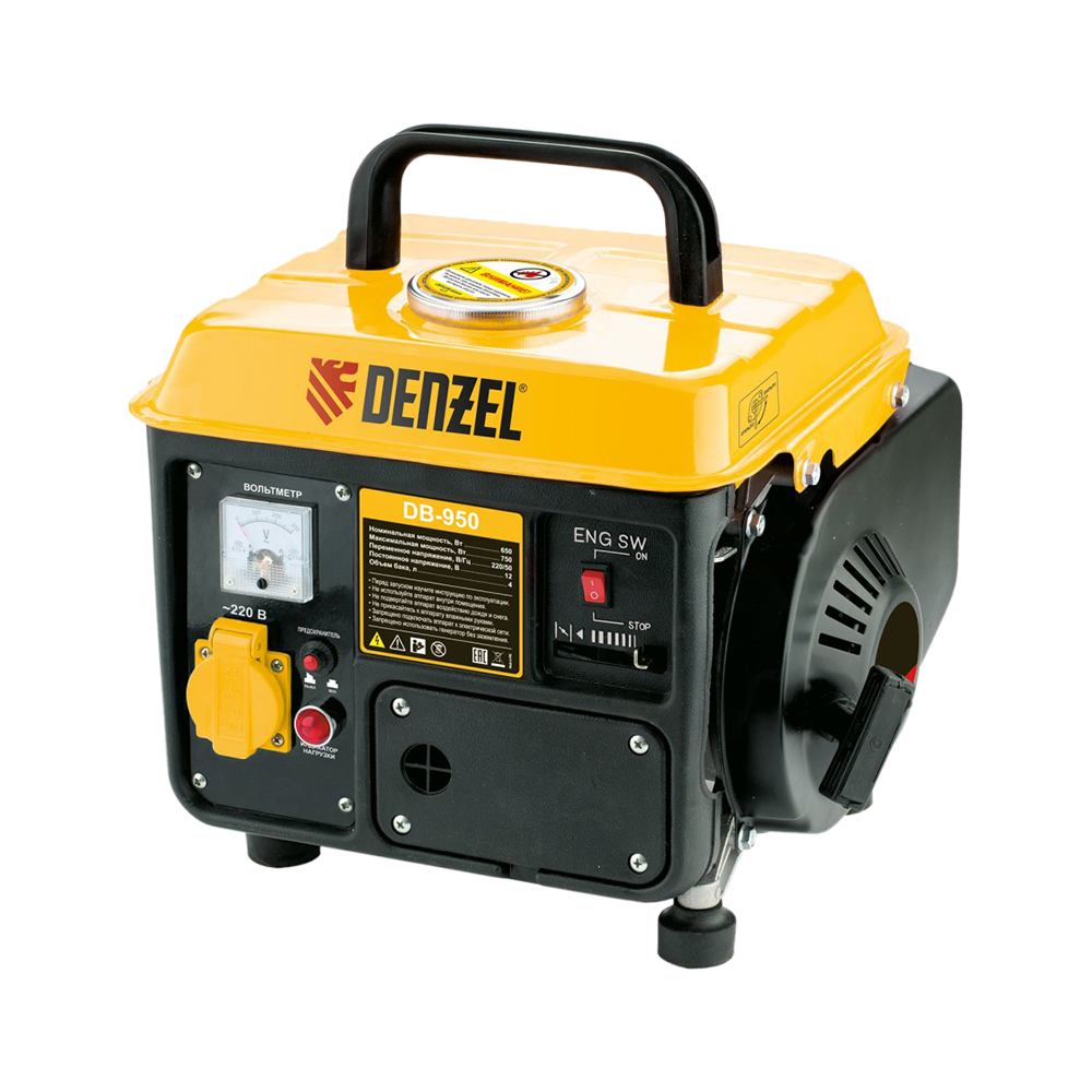 Gasoline & Petrol Generators DENZEL DB950 Power Equipment Gasoline Generator bqlzr gasoline generator muffler fits 188f gx340 11hp