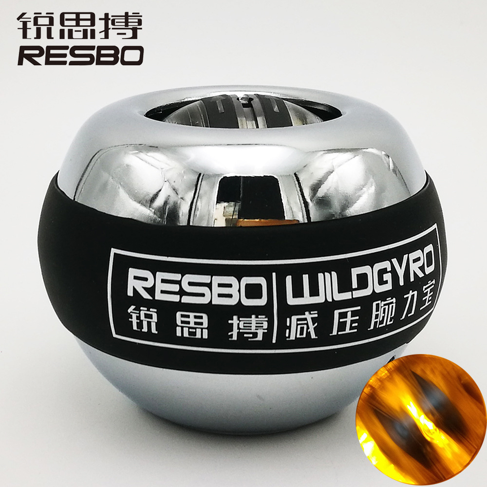 LED Auto Start Power Ball Wrist Metal Treinamento Muscular Aliviar A Pressão da Aptidão Exercitador fortalecer Vigor Giroscópio Bola UM