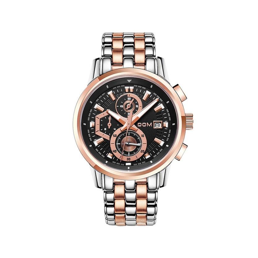 Dom Men'S Steel Belt Watch Sports Business Watch Stainless Steel Quartz Multi-Function Watch