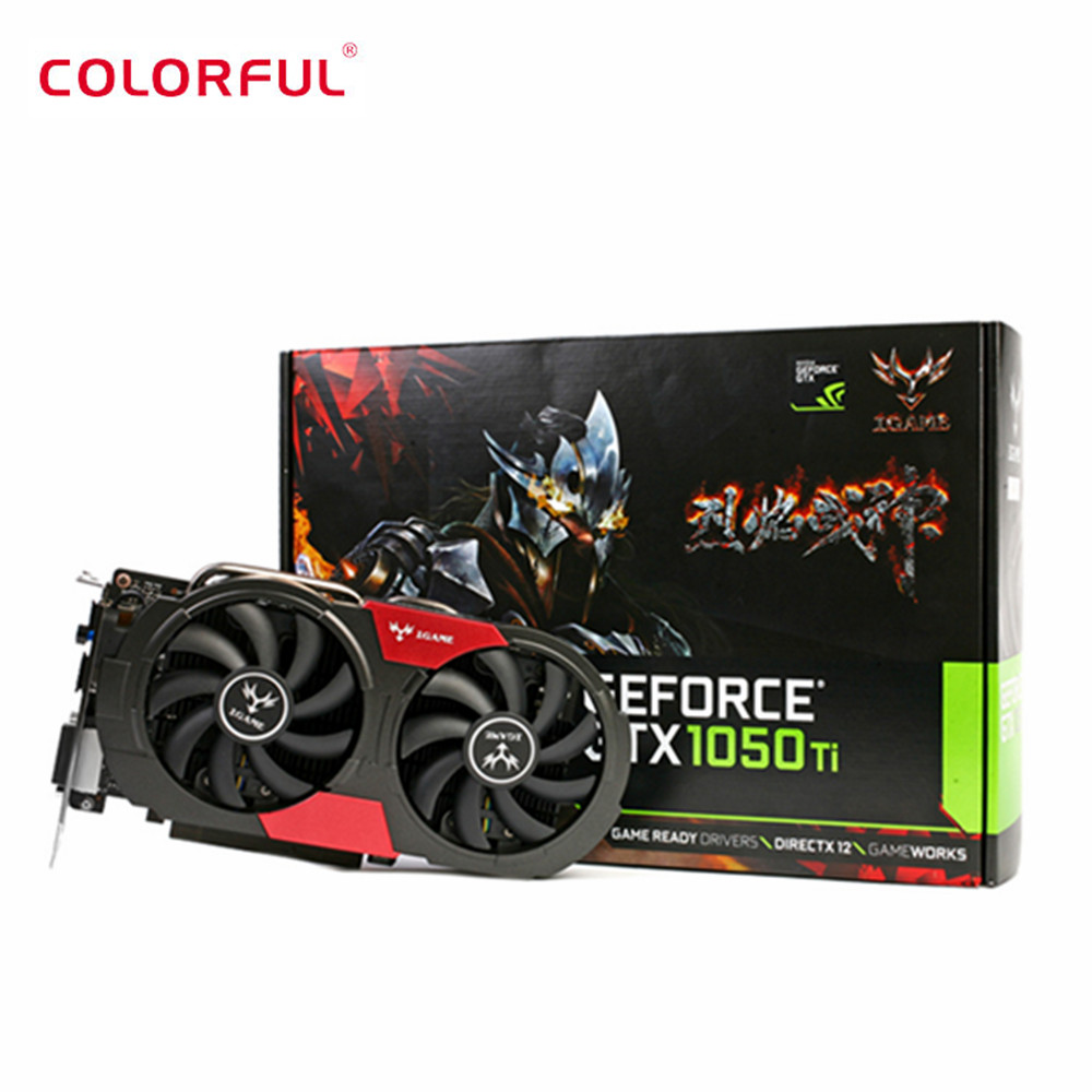 Colorful Hardware Graphics-Card DDR5 Geforce 1050ti GTX Computer 6pin 128bit