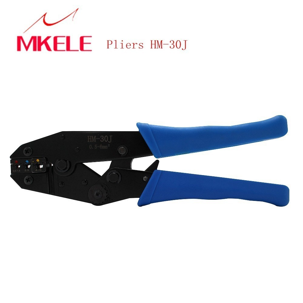 Multi functional HM 30J Crimping Tool Auto Crimping Pliers Cutting Pressing Wire Stripper Self Adjusting Electrician Tool Hot in Pliers from Tools