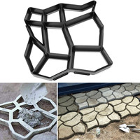 60*50cm Garden DIY Path Maker Mold Multi shape Concrete Stepping Stone Cement Mould Brick Home Garden Tools Paving Molds