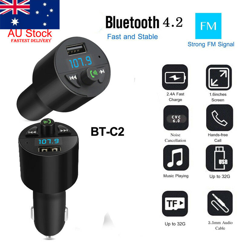Bluetooth FM Transmitter MP3 Player USB Stick KFZ Auto Radio SD Freisprechanlage