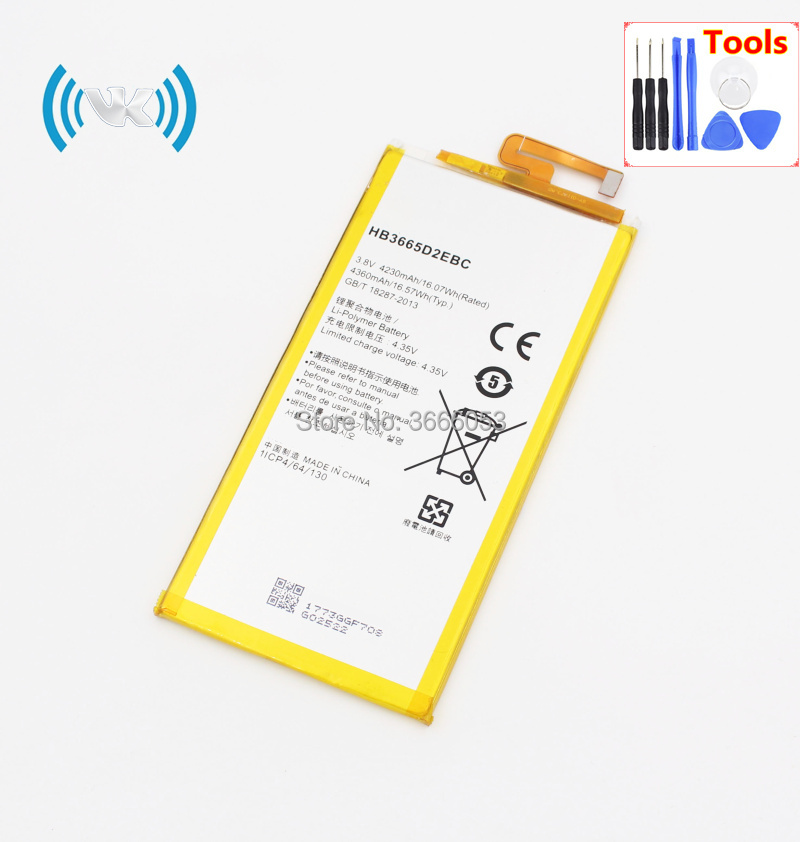 US $11 95 |VK 4230mAh/16 07Wh 3 8V HB3665D2EBC Replacement Battery For  Huawei P8 MAX 4G W0E13 T40 P8MAX Rechargeable Li polymer Bateries-in Mobile
