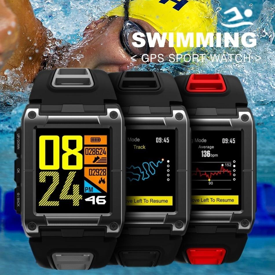 COXRY Swimming Sport Watch GPS Smart Watch Men Compass Bluetooth Running SmartWatch Waterproof Heart Rate Monitor Men's Watches