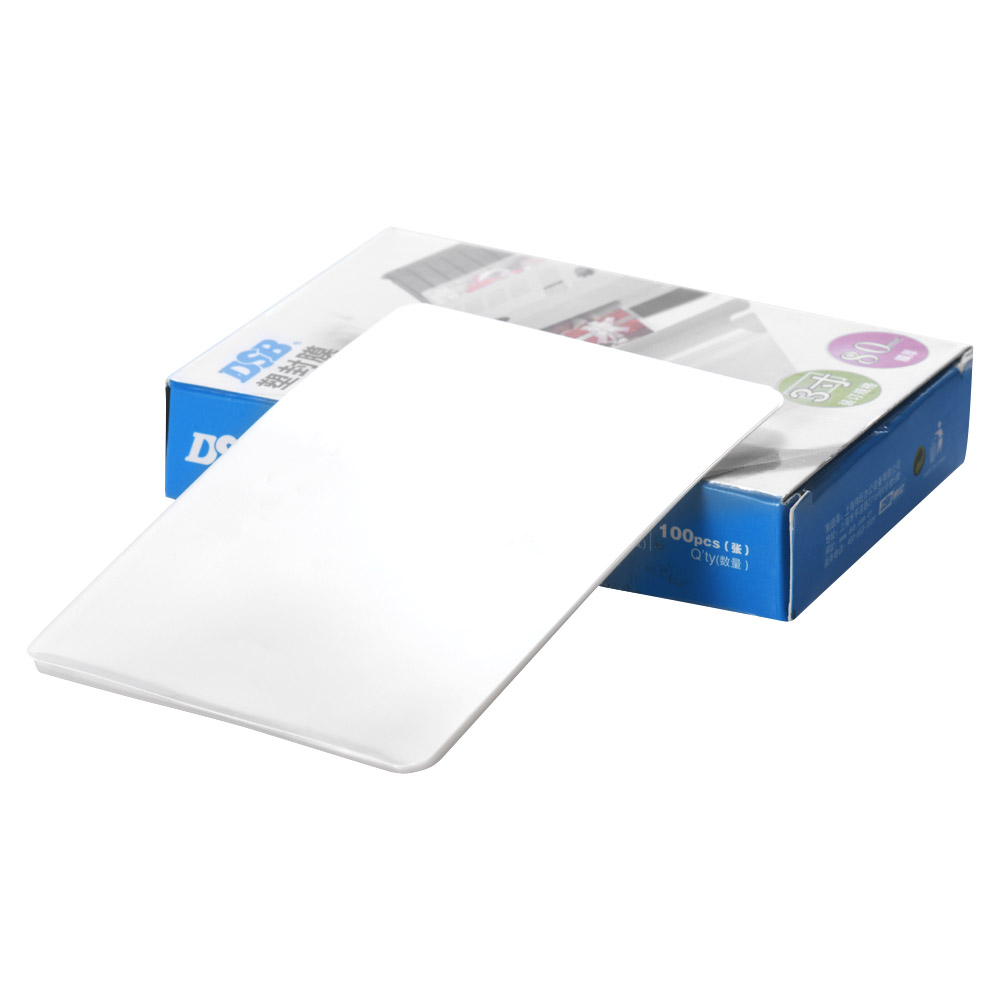 DSB 80mic A4 película de laminación claro hoja de EVA Bond para foto de laminación de papel de estudio en casa de suministros de oficina, 100 hojas