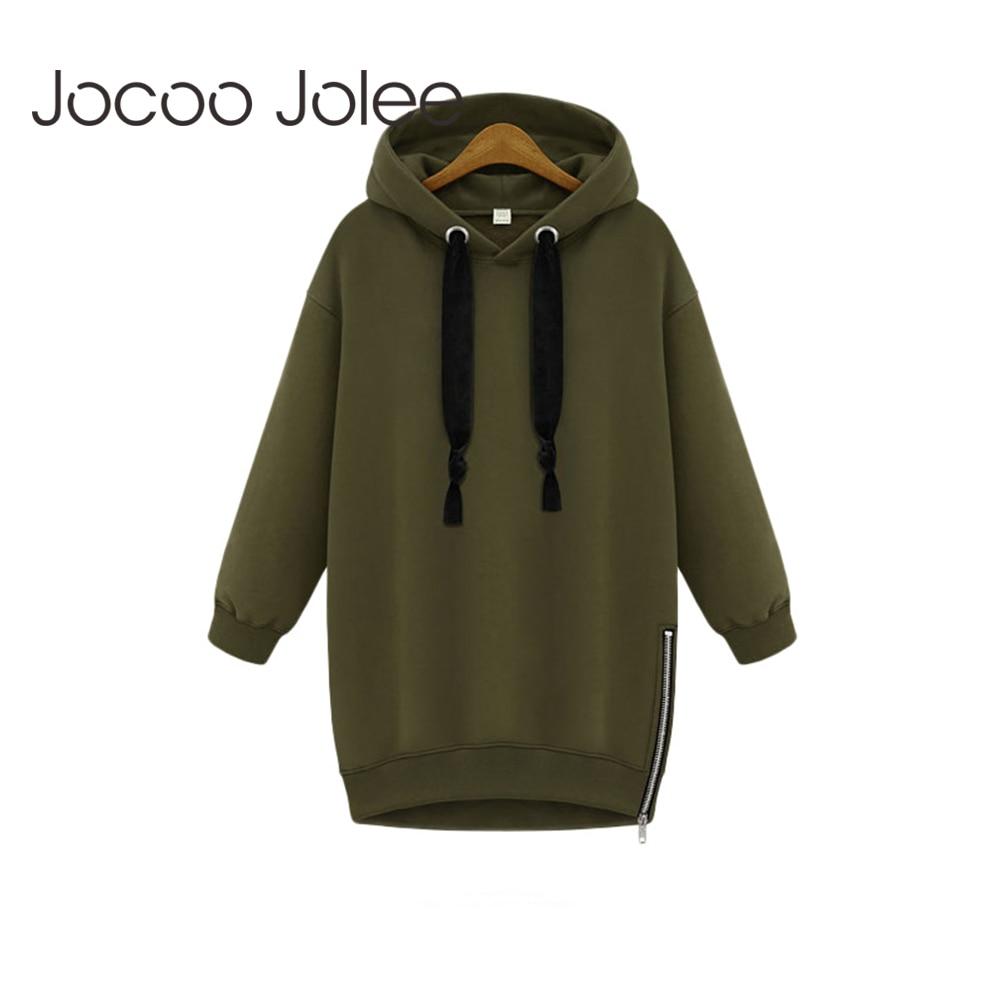 2017 Autumn Long Sleeve Pullover Short Hooded Crop Thicken Fleece Coat Zip Up Hooded Slim Parka Overcoat Woman Korean Clothes Women's Clothing