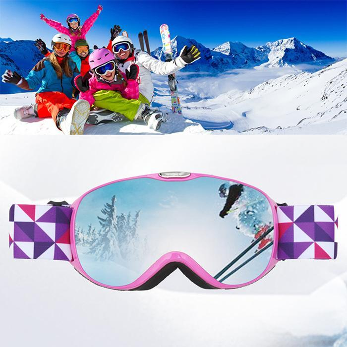 Romantic Ski Goggles Double Layers Uv400 Anti-fog Big Ski Mask Glasses Skiing Men Women Snow Adult Snowboard Goggles Skiing Eyewear
