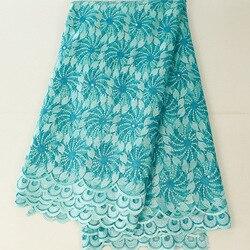 Afryka haftowana koronkowa tkanina na suknię ślubną wysokiej jakości francuskie koronki tkaniny siateczka 5 jardów
