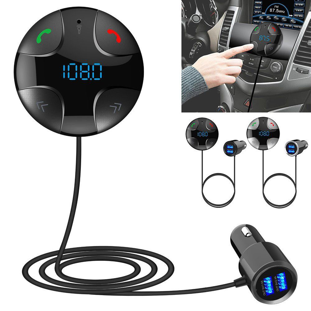 Wireless Car FM Transmitter MP3 Player &USB Charger Bluetooth Car Kit 4.2 Handsfree FM Transmitter A2DP Kit Dual USB Car Charger