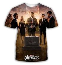 YX Girl 2019 Hot  New The Avengers 4 3D Digital Printing Summer Mens T-shirt Tee Tops 003