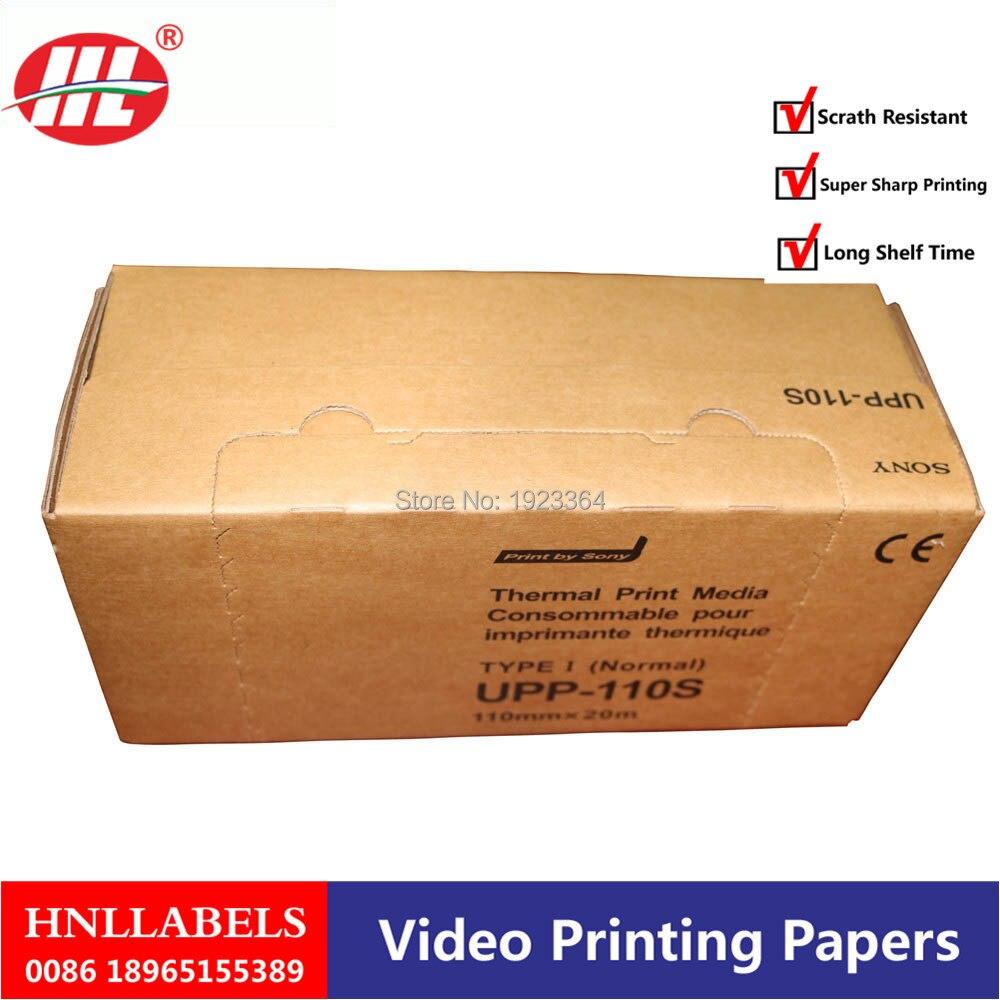 200X Rolls 110mm*20m B-recorder UPP-110S Thermal Paper Printer B-sheets, Compatible Ultrasound UPP 110S