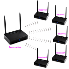 measy HD595 1TX + 5 RX Wireless HDMI Extender 450m Supporting 1080P with IR Signal Transmission (Transmitter and Receiver)