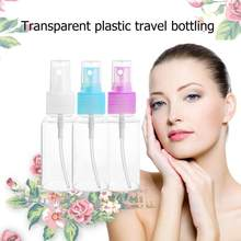 30ml Clear Perfume Shampoo Lotion Refillable Bottling Travel Cosmetic Liquid Press Pump Mouth Point Spray Bottle(China)