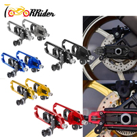 Motorcycle Left&Right Spindle Chain Adjusters With Spool Tensioners for BMW HP4 2013 2014 S1000RR 2009 2017 BMW S1000R 2013 2017