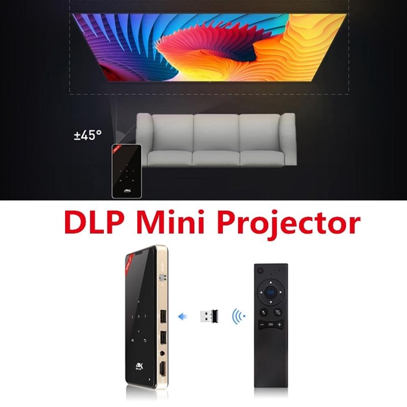 2019 Nieuwste Ontwerp H96-p Dlp Mini Projector 2.4g + 5g Draadloze Mini Projector Draagbare Movie 4 K Projector Led Light Ondersteuning Maatwerk Systeem Game