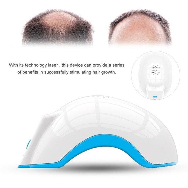 Capacete laser para crescimento de cabelo, tratamento anti perda de cabelo promove o crescimento do cabelo, equipamento de massagem