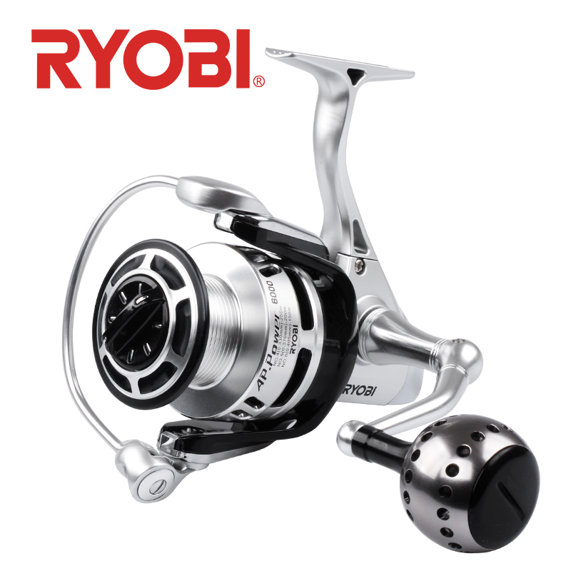 RYOBI AP POWER II 6000/8000/10000 moulinet de pêche en rotation Ratio de corps en métal complet 5.0: 1 10 kg 6BB pesca roue de pêche en eau salée