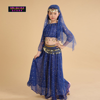 Quality Dance Clothes Indian Sari Girls Dress Orientale Enfant Indian Costumes For Kids Oriental Dance Costumes Belly Dance Sets