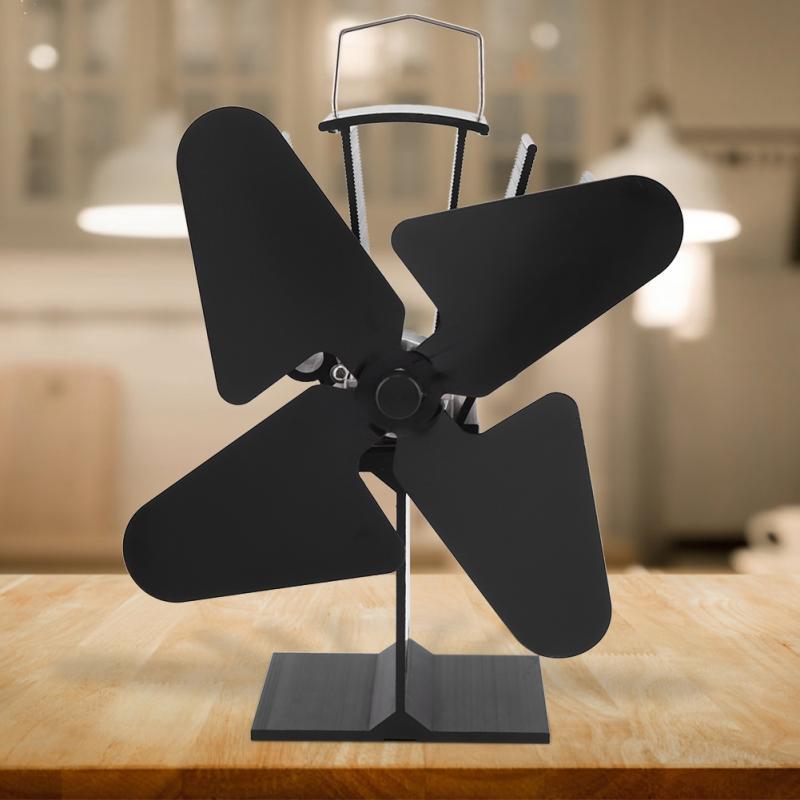 3 Types Eco friendly Heat Fan Heat Powered Wood Thermoelectric Stove Fan Home Fireplace Fan Efficient