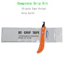 Захват гольф-клуба повторный захват инструмент установка изменение стали комплект крюк лезвие универсальный нож+ 15 шт. сцепление ленты