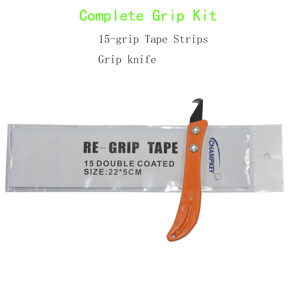 New Golf Club Grip Re-grip Tool Install Change Steel Kit Hook Blade Utility Knife + 15Pieces Grip Tapes