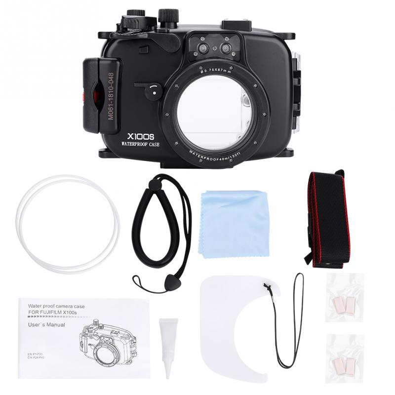 40M 130ft Underwater Waterproof Diving Housing Case for Fuji X100S Camera High Quality 2019 new style