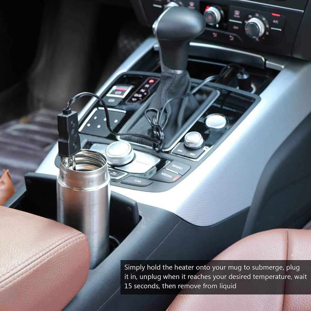 12V Auto Trinken Heizung Auto Elektrische Immersion Flüssigkeit Tee Kaffee Wasser Heizung Neue Tragbare Sicher 12V Auto Immersion heizung Auto Elec