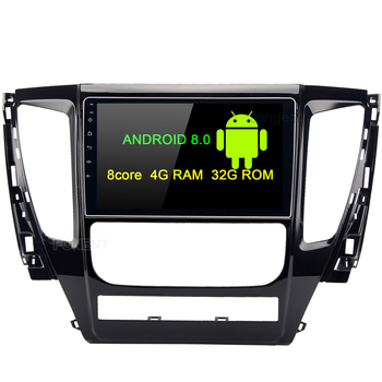 9inch Android 8.0 Car GPS Glonass Radio Player for Mitsubishi Pajero Sport 2017 with Octa Core 4GB+32GB Auto Stereo Multimedia image