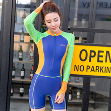 SABOLAY Women One Piece Rashguard Surf Upf50 Guard Swimwear Lycra Wetsuit Scuba Diving Equipment Zipper Tights Elastic Swimsuit