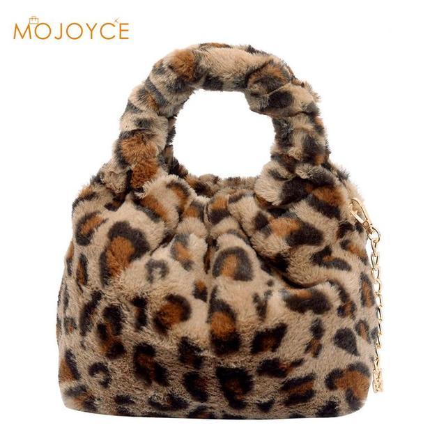 5b2ddd81608a Fashion Leopard Women Handbag High Quality Shoulder Bag Faux Fur Crossbody  Bags Female Girls Messenger Bags Bolsa Feminina New
