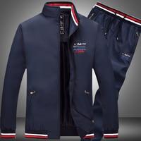 Shark Eden Ralp Men Sets Fashion Aeronautica Militare Sporting Suit Sweatshirt +Sweatpants Mens Park 2 Pieces Sets Tracksuit 4XL