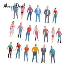 MagiDeal 1 набор, 1/50 масштаб, поезд, железнодорожный парк, уличное здание, пассажирские фигурки, модель хо, окрашенная для макета, пейзаж, сцена