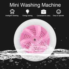 Mini Portable Ultrasonic Vibration Washing Machine Stains Remover USB Ultrasound Laundry Cleaning Machine for Travel Home Use(China)