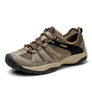 Outdoor Sports Hiking Shoes For Men Climbing Hunting Trekking Camping Shoes Summer Breathable Shoes фото