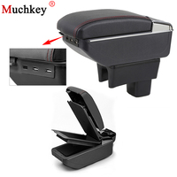 Car Armrest Box With USB For SUZUKI Swift Central Console Arm Store Content Box Cup Holder Ashtray Seat Armrests Car Styling