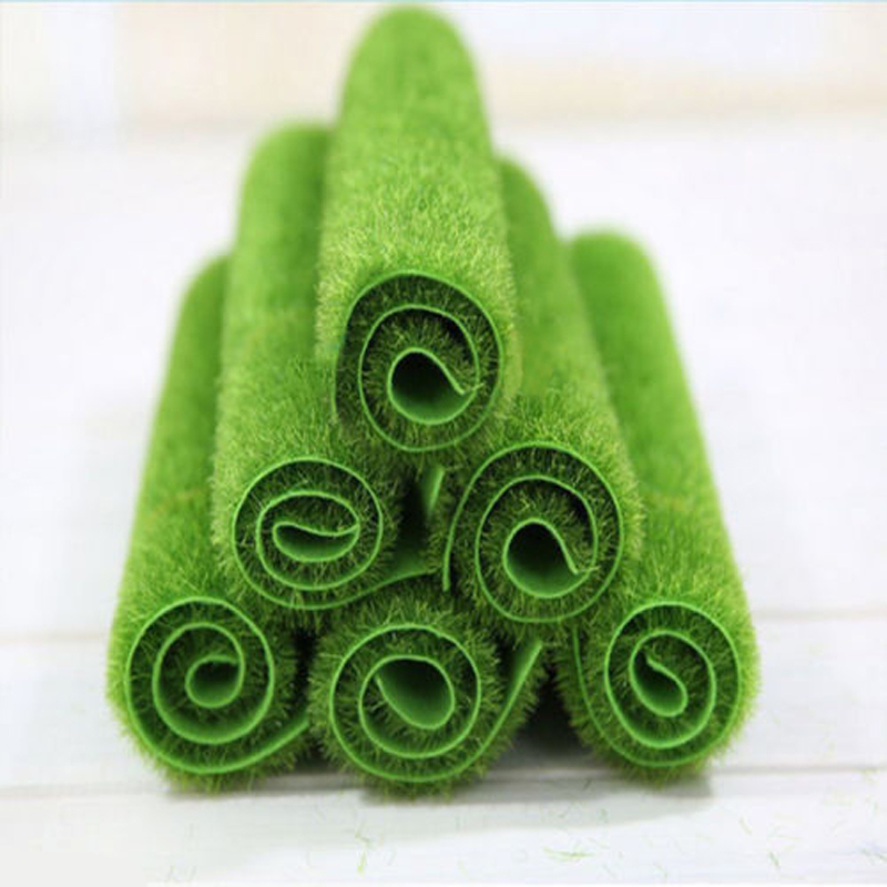 Mayitr Grass Mat Green Artificial Lawns Turf Carpets Fake Sod Home Garden Moss For Home Floor Wedding Decoration