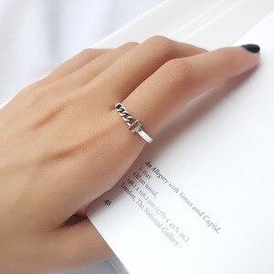 Image 3 - 공장 가격 100% 925 실버 Rign 패션 미니멀리즘 섬세한 체인 링 여성을위한 훌륭한 보석