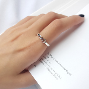Image 3 - Factory Price 100% 925 Silver Rign Fashion Minimalism Delicate Chain Ring Fine Jewelry for Female