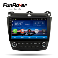 Funrover автомобильный радио мультимедиа 8,0 Android 10,1 автомобильный dvd аудио стерео плеер навигация для Honda Accord 7 2007 2003 wifi gps FM