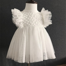 Summer Ruffles Lace Newborn Baby Girl Wedding Pageant Dress Christening Gowns Princess Party Dresses Girls Clothes