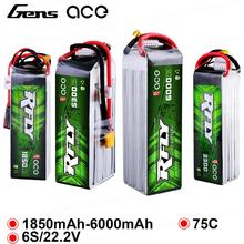 Gens ace RFly 1850mAh 3300mAh 5300mAh 6000mAh 6S 22.2V 75C Max 150C Lipo Battery with XT60 Deans Plug for Traxxas Boat Heli gens ace 4s 6750mah lipo 14 8v battery pack 70c xt90 t plug for traxxas x maxx 1 8 car lipo batteria quad drone boat