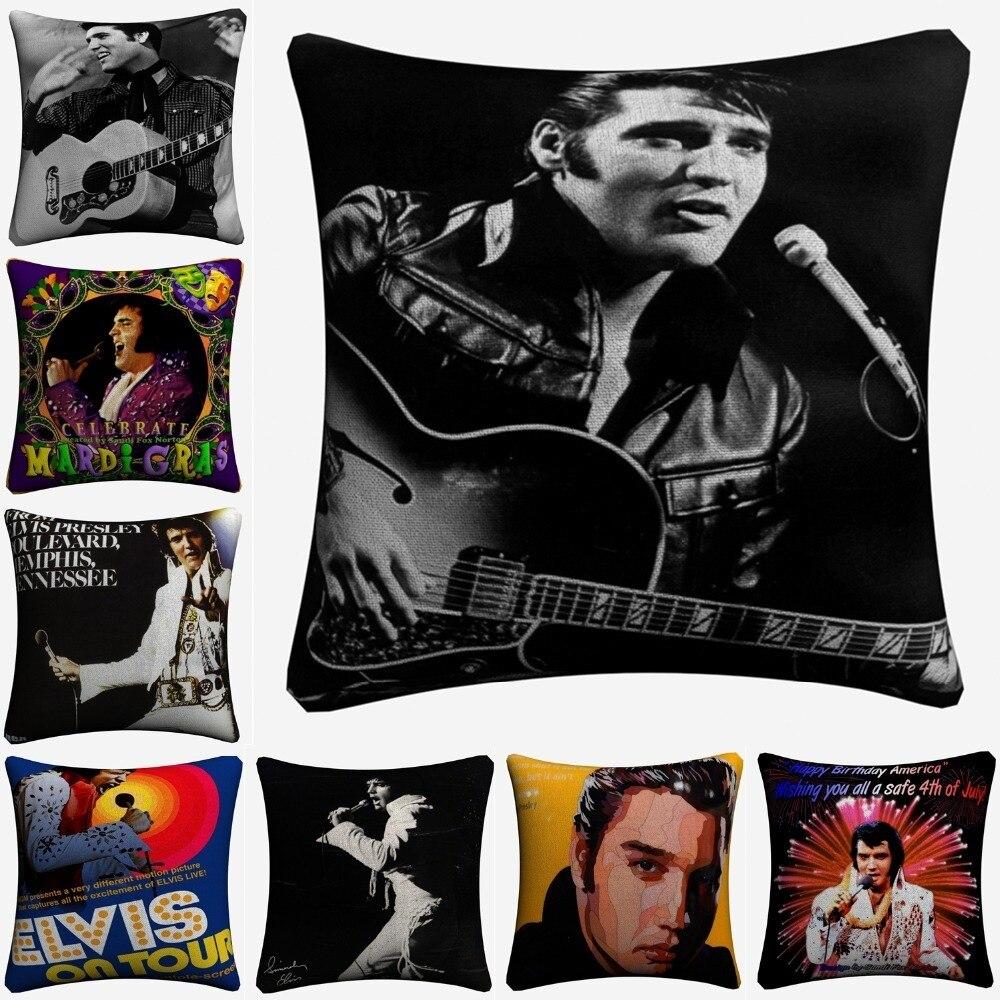 Elvis presley arte clássica do vintage decorativo algodão linho capa de almofada 45x45cm lance fronha para sofá decoração para casa almofada