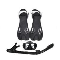 AILLOMA Adjustable Buckle Camera Diving Mask Snorkel Set Full Dry Tube Scuba Snorkeling Anti Fog Goggles Diver equipment Fins